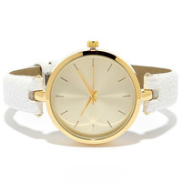 Life and Times Gold and White Watch