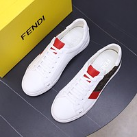 FENDI2021 Men Fashion Boots fashionable Casual leather Breathable Sneakers Running Shoes0527cc