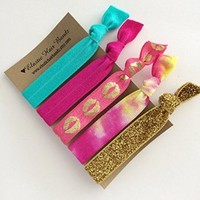 The Lucy Elastic Hair Tie Ponytail Holder Collection by Elastic Hair Bandz