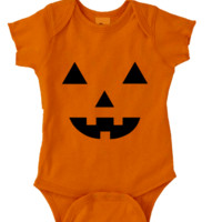 PUMPKIN FACE Onesuit FUNNY BABY Onesuit CUTE BABY STUFF BABY CLOTHES CUSTOM BABY CLOTHES halloween outfit TODDLERS BABY GIFTS BABY SHOWER