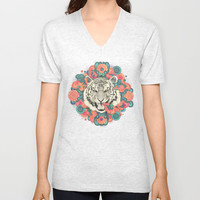bengal mandala Unisex V-Neck by Laura Graves