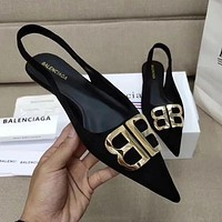 Balenciaga Women Fashion Pointed Toe Flats Shoes