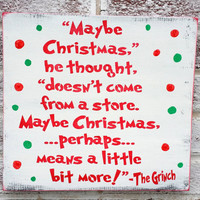"Holidays, Holiday Decor, Signs, Fun Christmas Decoration ""Maybe Christmas doesn't come from a store..."" classic vintage, Christmas sign"