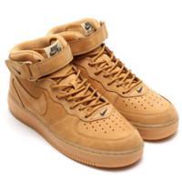 NIKE Women Men Running Sport Casual Shoes Air force High tops Brown
