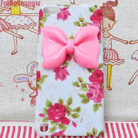 Touch 5 cover Rose garden sweet bow phone cover iPod touch 5 phone case