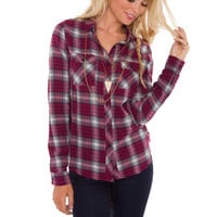 Ella Plaid Top