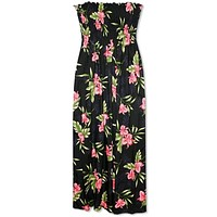 Midnight Black Maxi Hawaiian Dress