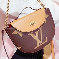 LV New fashion multicolor monogram print leather chain shoulder bag crossbody bag handbag