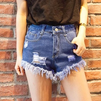 Super Cute Cut Off High Waisted Cool Denim Shorts!
