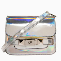 DailyLook: Holographic Studded Satchel