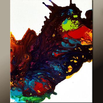 Abstract Canvas Art Contemporary Painting 16x20 by Destiny Womack - dWo - Euphoria
