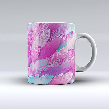 The Spectral Vector Feathers ink-Fuzed Ceramic Coffee Mug