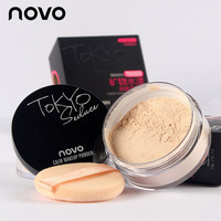 Brand New 4 Colors Smooth Loose Powder Makeup Transparent Finishing Powder Waterproof Cosmetic For Face Finish Setting With Puff