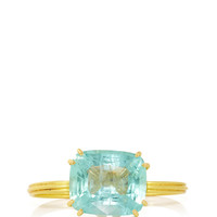 22K Yellow Gold and Aquamarine \