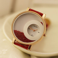 Comfortable Vintage Fashion Quartz Classic Watch Round Ladies Women Men wristwatch On Sales = 4662244740