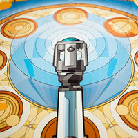 Signed, Limited Edition // Doctor Who Inspired Sonic Screwdriver Design // 16x24 Art Nouveau Poster