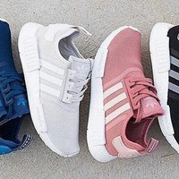 ADIDAS Women Men NMD Running Sport Casual Shoes Sneakers Pink G