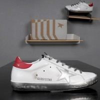 GOLDEN GOOSE GGDB SSTAR Superstar Red White Leather Sneakers - Best Deal Online