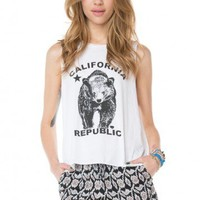 Brandy ♥ Melville |  Kate CA Bear Tank - Graphic Tops - Clothing