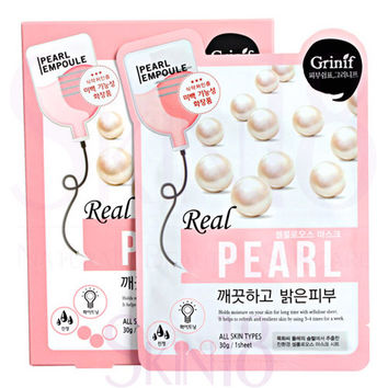 Grinif Real Pearl Cellulose Facial Mask (Brightening) *exp.date 08/17*