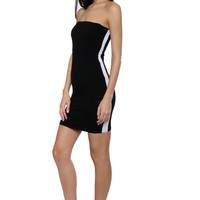 Brooklyn Karma Side Contrast Stripe Dress