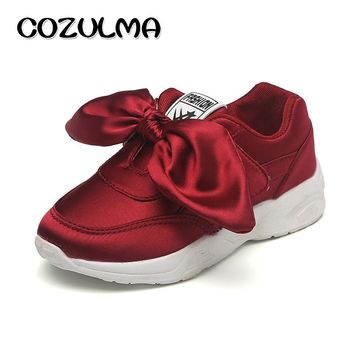 COZULMA Children Sneakers Shoes Girls Fashion Sneakers Running Shoes Autumn Style Breathable Kids Flat Sport Shoes Size 26-36