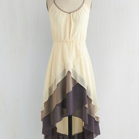 Mid-length Spaghetti Straps High-Low Hem Cheers for Tiers Dress