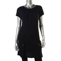 Style & Co. Womens Cable Knit Above Knee Sweaterdress