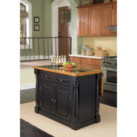 Home Styles Monarch Island Black/ Distressed Oak Finish with Granite Top   Overstock.com Shopping - The Best Deals on Kitchen Islands