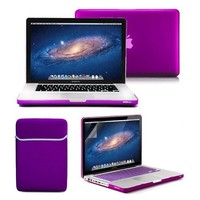 GMYLE NPL004347 4 in 1 Frosted Hard Case, Sleeve Bag, Keyboard Cover and Clear Screen Protector for Macbook Pro 13