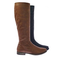 Primetime37 Women Vintage Knee High Riding Boots