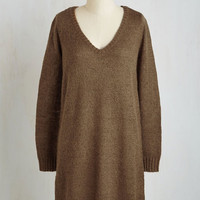 Long Sleeve Shift Sweater Weather Dress