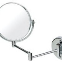 Chrome Extending Shaving Wall Mounted Mirror True Image x3 Magnified Extends to 64cm 20cm
