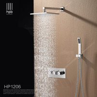 Brass Bathroom Hot And Cold Water Mixer Wall Mounted Bath Shower Set Faucet Shower Head HP1206