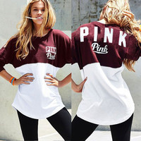 Round Neck Letters Printing Sweater