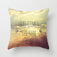 Here Comes The Sun Throw Pillow by Farsidian
