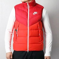 NIKE Autumn Winter Popular Men Casual Sleeveless Cardigan Zipper Jacket Coat Vest