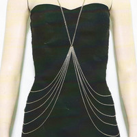 Waterfall Body Chain Necklace