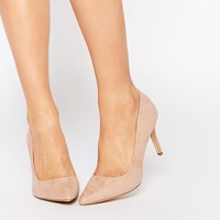 New Look Nude Pointed Heeled Court Shoe