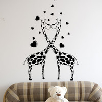 Vinyl Wall Decal Sticker Giraffe Love #1357
