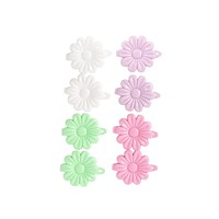 Solid Floral Hair Clip Set