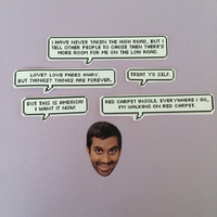 Tom Haverford Quotes Sticker Set