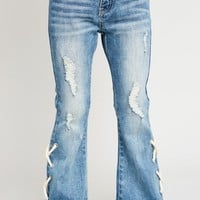 Hayden Lace Up Jeans