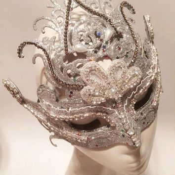 Mask Queen Masquerade Italy Girl Party Halloween Christmas Party Fashion Crown Princess Lace Masks - DinoDirect.com