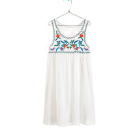 EMBROIDERED CHEESECLOTH TOP - Dresses - Girl - Kids | ZARA United States