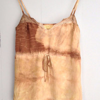 Gone Rustic Hand Dyed Silk Lace Trim Camisole