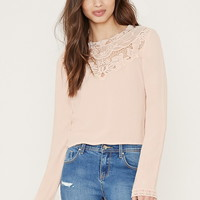 Lacy High-Neck Blouse