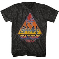 Mens Def Leppard Mineral Wash On Tour 83 Tee Shirt