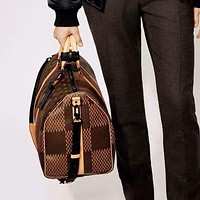 LV Louis Vuitton Women Men Fashion Leather Large Capacity Luggage Travel Bags Tote Handbag Crossbody