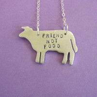 Friend Not Food Cow Eco Friendly necklace